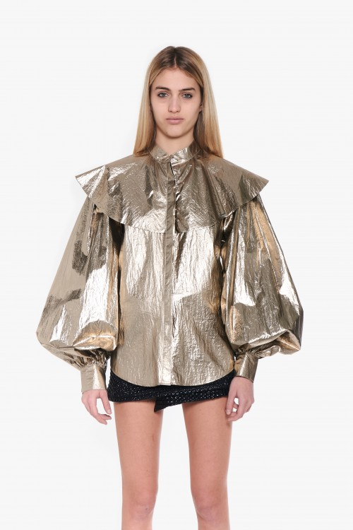 "Woman shirt in ""paper gold""..."