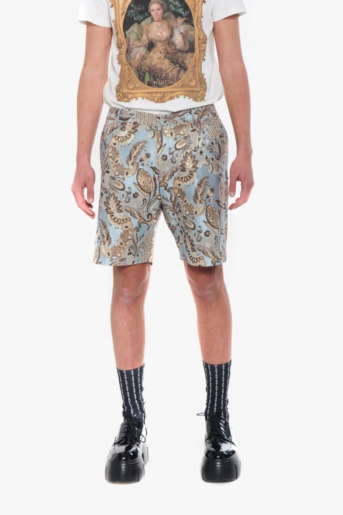 Men jacquard bermuda shorts