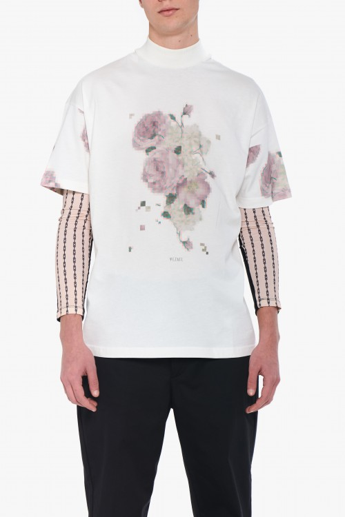 Men t-shirt with floral print